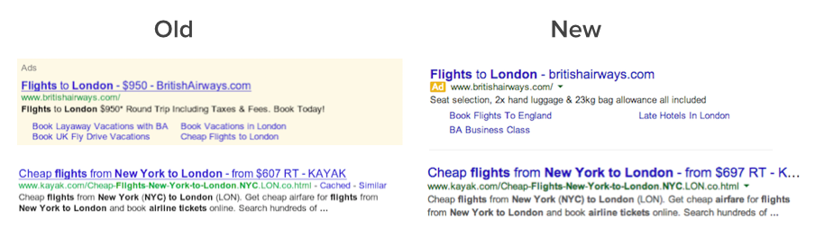 google search ads redesign